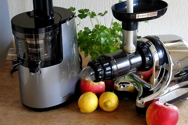 Slow juicer vertical Juicer ft. Horizontal Juicer - The Green Creator