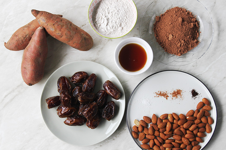 sweet potato brownies ingredients