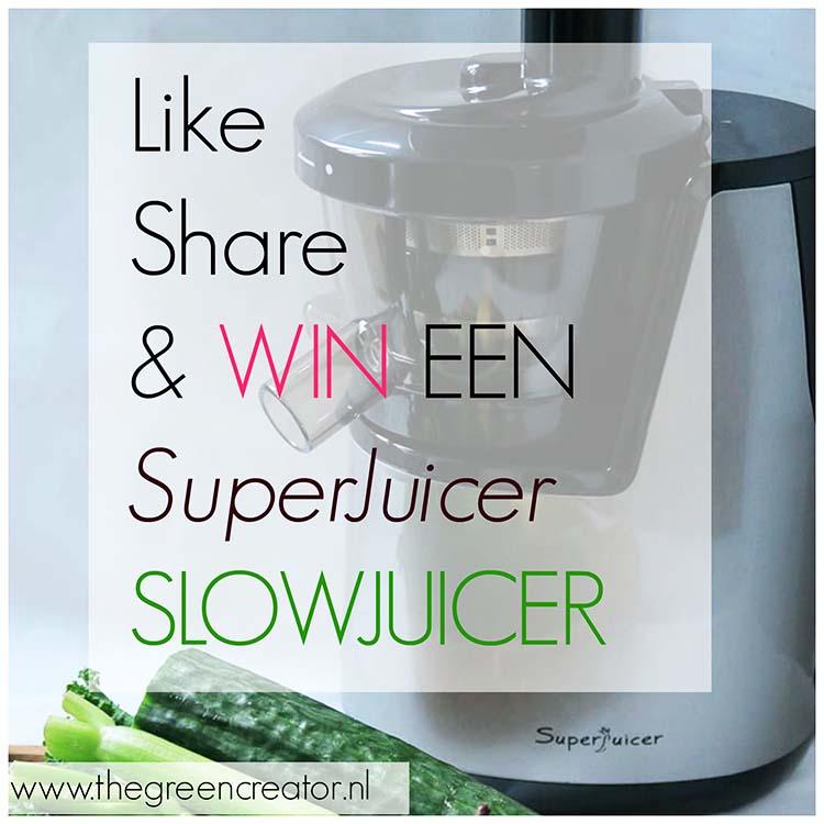 ''Wonder Groene Sap'' met de Super Juicer + slowjuicer WINACTIE