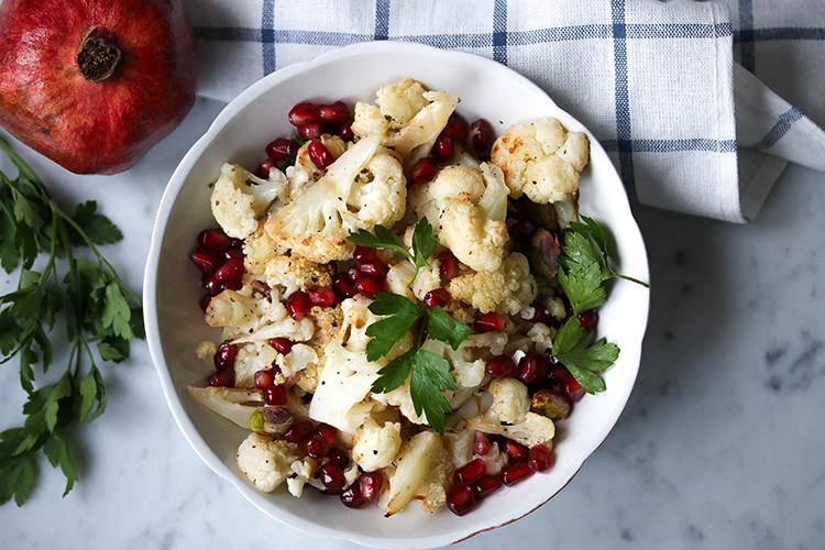 Spicy Cauliflower and Pomegranate Salad