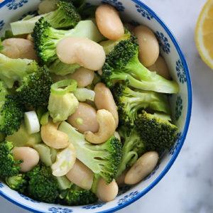 Almond Butter Beans broccoli Salad