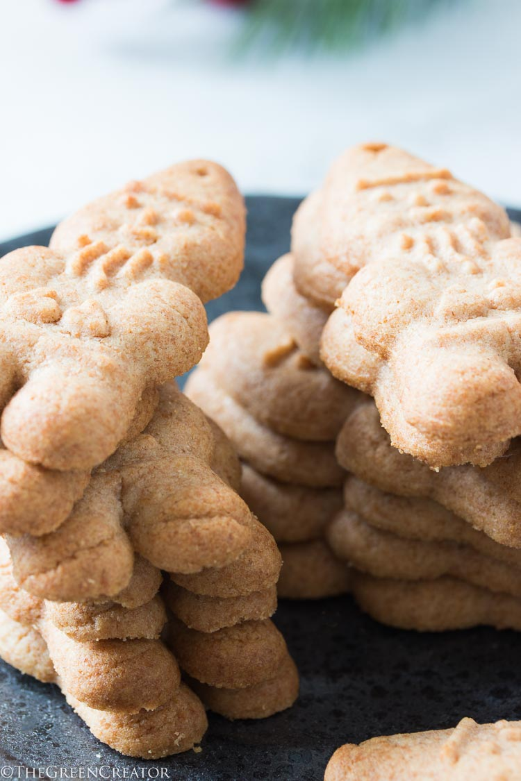Gluten-Free Almond Butter Christmas cookies