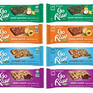Go-Raw-Organic-Gluten-Free-Sprouted-Small-Bars-4-Flavor-Sampler-Bundle-2-Sweet-Spirulina-Bars-2-Go-Raw-Raisin-Crunch-Bars-2-Chewy-Apricot-Bars-2-Pumpkin-Seed-Bars-5-4-Oz-Ea-8-Bars-0