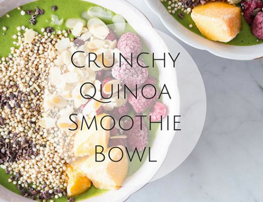 Crunchy Quinoa Smoothie Bowl