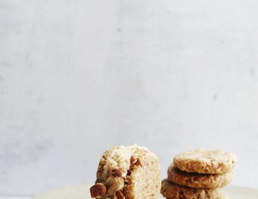 Cookie dough ice cream sandwiches