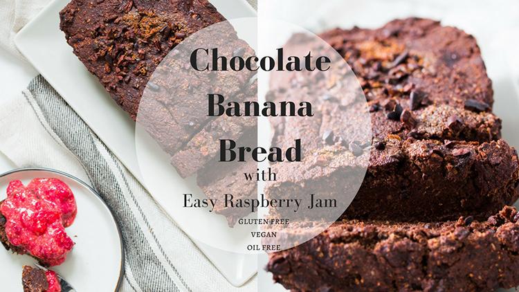 Chocolate Banana Bread with Easy Raspberry Jam Video