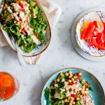Spinach salad with Pickled Red Bell Peppers