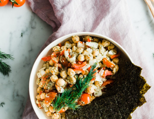 Chickpeas Nori Salad