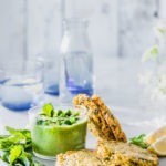 Spring Potato Pancakes with Pea Mint Dip