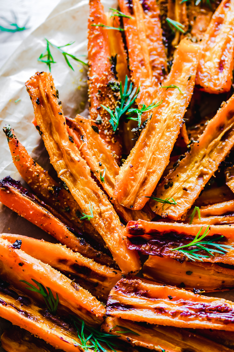 Carrot Fries with Fresh Dill Dip