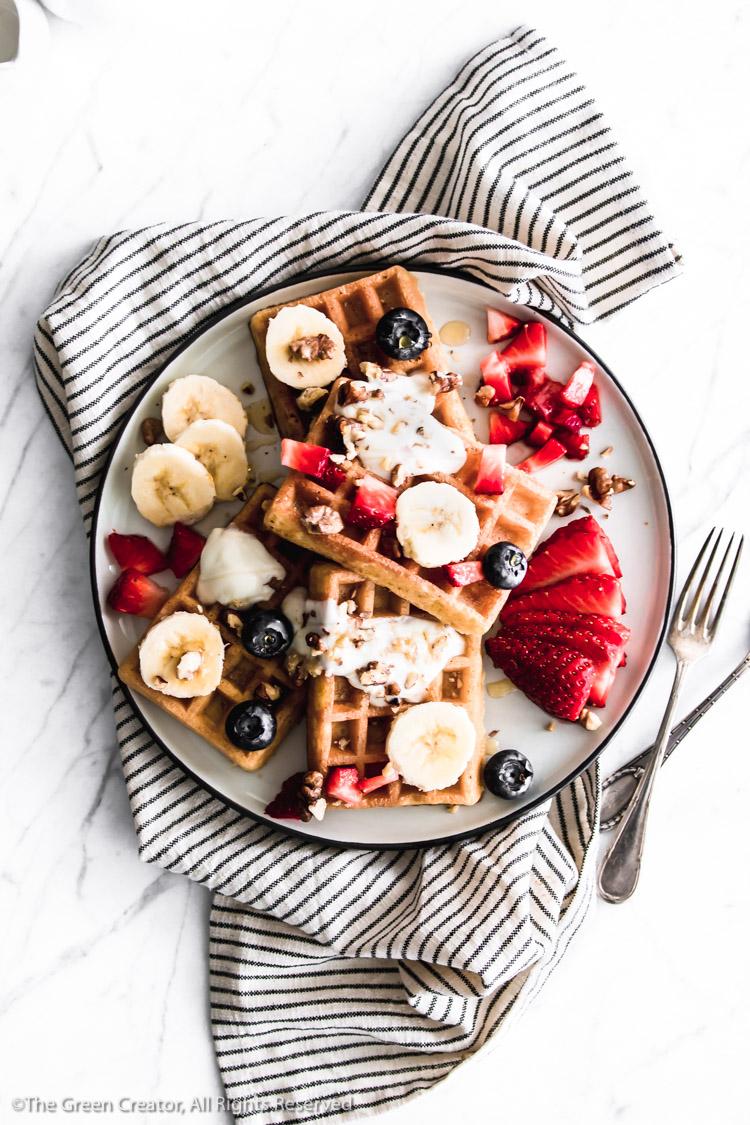 Easy Waffles | Vegan, Gluten-Free, Oil-Free