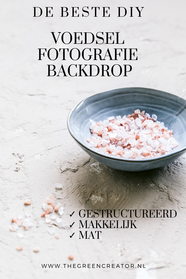 Hoe maak je zelf een goede backdrop voor voedsel fotografie