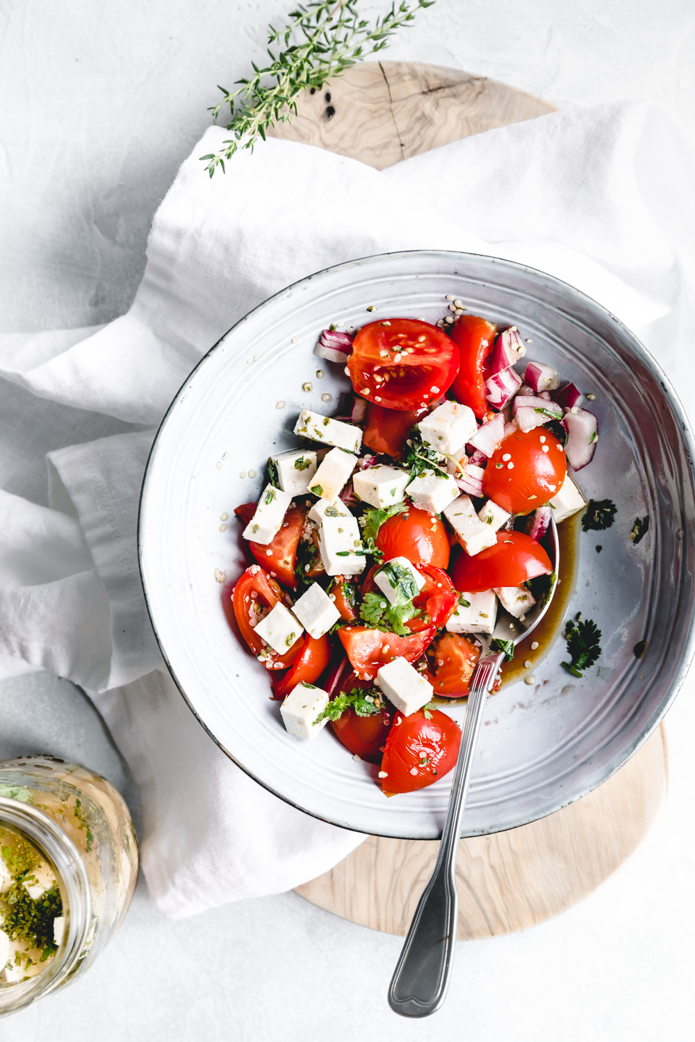 feta cheese in tomato salad